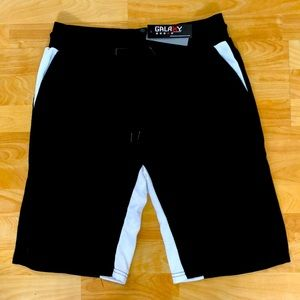 Galaxy by Harvic Men's Black with White Short, Lge